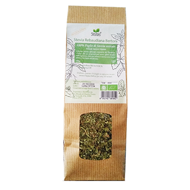 Sheets-of-stevia-from-cultivation-biological-for-diabetes in herbal tea cut