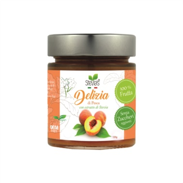 Sugar-free-peach-jam-is-sweetened-with-stevia-for-diabetic-dieters