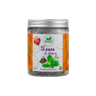 Stevia-herbal-tea-in-organically-grown-pyramids-for-diabetics-and-diet